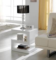 High Gloss Side Table Contemporary Side Or L Z Table In White High Gloss