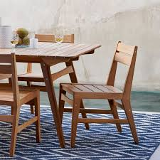 Patio Dining Furniture Mid Century Dining Chair Teak West Elm