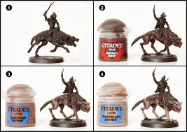 tutorial how to paint fell wargs from the hobbit tale of painters