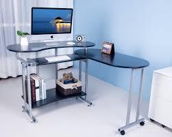 btm folding black computer desk with sliding keyboard large corner