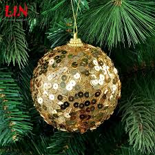 christmas ornaments sequins decorative foam 10cm gold decoration