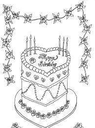 birthday cake coloring page best wedding cake coloring pages
