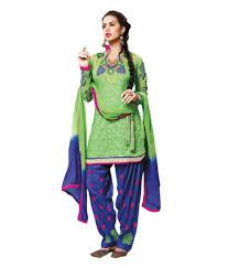divine pista green colour cotton jaquard salwar suit buy divine