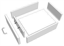 plywood raised door chestnut kitchen cabinet drawer boxes