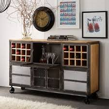 Metal Bar Cabinet Kepler Hardwood Reclaimed Metal Furniture Industrial Bar Cabinet