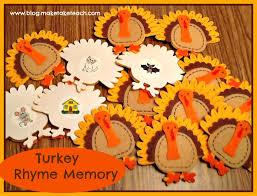 thanksgiving rhyming activity make take teach