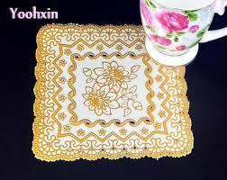 napperon de cuisine moderne or pvc napperons boisson table napperon dentelle pad d