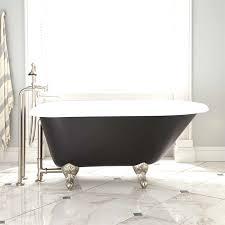 54 miya cast iron clawfoot tub ball claw feet black bathroom