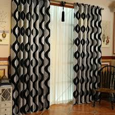 guide for windows treatments with black and silver curtains black