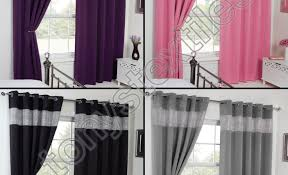 Purple Thermal Blackout Curtains by Curtains Purple Eyelet Curtains Intrepid Blue Check Curtains