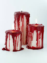 creepy home decor these bloody pillar candles will give the perfect spooky effect