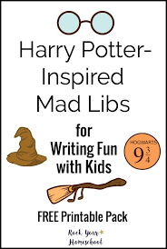 free printable harry potter inspired mad libs for writing fun