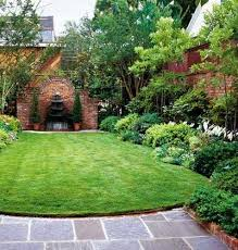 cozy small backyard landscaping ideas low maintenance mini lawn and garden inside a small walled area my secret garden