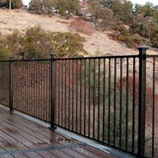 Decorative Iron Railing Panels Shop Metal Deck Railing Westbury Fortress Deckorators And