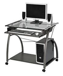 Computer Desk Amazon by Amazon Com Acme 00118 Vincent Computer Desk Silver Kitchen U0026 Dining