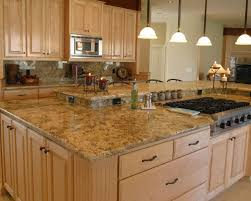granite countertop high gloss cabinet finish stacked stone tile