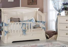 Toddler Bed White Imperio Solid Panel Convertible Crib By Romina Furniture