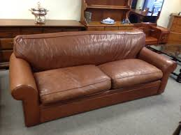 Henredon Leather Sofa Beautiful Ralph By Henredon Feather Filled Leather Sofa
