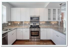 Backsplash With White Kitchen Cabinets White Cabinet Kitchen Free Home Decor Oklahomavstcu Us