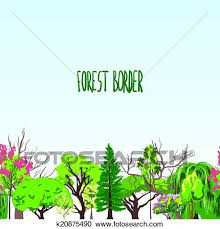 clipart of fotest border trees sketch k20875490 search clip art