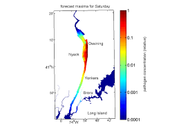 Hudson River Map Pathogen Forecast For The Latest Hudson Sewage Spill Seaandskyny