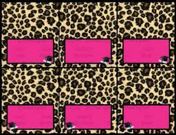 cheetah print party supplies graduation pink cheetah leopard printable party decorations