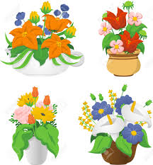 Wildflower Arrangements Flower Arrangements Cartoon Illustrations To Celebrate Special