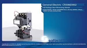 general electric cr306d002 motor starter youtube