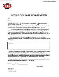 notice of lease non renewal