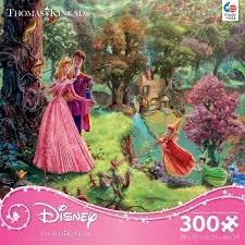 thomas kinkade disney princess sleeping beauty 300 oversized