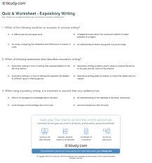 quiz u0026 worksheet expository writing study com