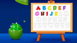 alphabet and colors for children to learn with color balls and