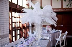 feather centerpieces ostrich feathers by dymonds event rentals virginia