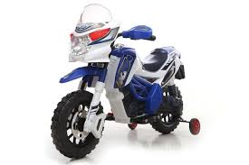 motocross push bike kids motocross ride on battery powered 6v motorbike bike in blue