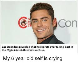 Zac Efron Meme - con zac efron has revealed that he regrets ever taking part in the