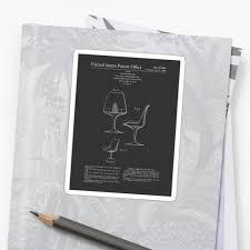 mid century modern eero saarinen tulip chair patent design