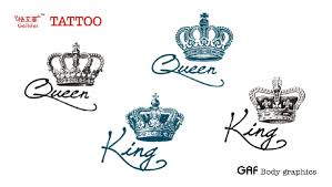 king and queen crown tattoos best images collections hd for