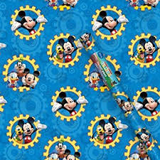 mickey mouse christmas wrapping paper disney mickey mouse clubhouse gift wrap 1 roll health