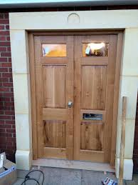 Solid Timber Front Doors by Solid Wood External Double Doors The Norfolk Carpenter