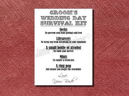 wedding day cards from to groom custom designed wedding day groom s survival kit card or