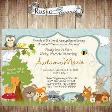 woodland creatures baby shower printable forest themed ba shower invitation woodland ba woodland