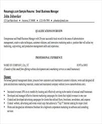 Sample Resume Operations Manager by 27 Business Resume Templates Download Free U0026 Premium Templates