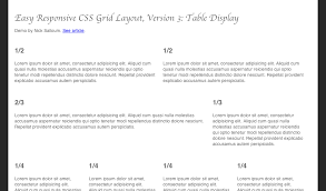 Css Responsive Table by Easy Responsive Css Grid Layout Version 3 Table Display