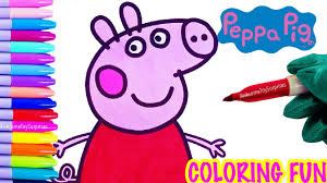 peppa pig coloring page fun peppa pig speed coloring activity for