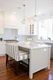 kitchen island stools and chairs kitchen island the padded bench instead of bar stools
