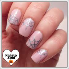 cute pink spider web nail art tutorial for halloween nailsxo