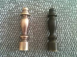 Household Brass Cleaner Finials Before U0026 After Polishing Using Bar Keeper U0027s Friend Via