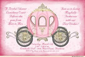 wording for bridal luncheon invitations fairytale cinderella bridal shower invitation custom royal