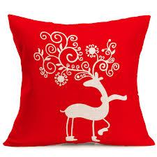 ouneed christmas deer pillow casefor sofa throw cushion cover
