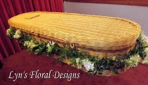 wicker casket wicker casket garlands lyn s floral designs florist in